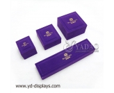 Multicolored mosaic crystal violet velvet jewelry boxes thickened edge